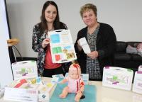 Nicol and Jutta Lehmann shows an Children`s baby emergency case