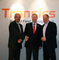 v. l. n. r. Walter Mastelinck (CEO Transics), Gero Schulze Isfort (Sales & Marketing Director Krone), Peter Jendras (CEO idem)