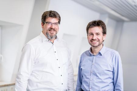 Geschäftsführer highQ Computerlösungen Thomas Hornig und Christian Disch (v.l.n.r.)