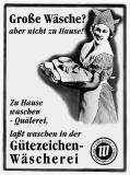 Ein Beispiel aus der Werbekampagne der Gütegemeinschaft sachgemäße Wäschepflege e.V. Ende der 1950er-Jahre. ©Gütegemeinschaft sachgemäße Wäschepflege e.V.
