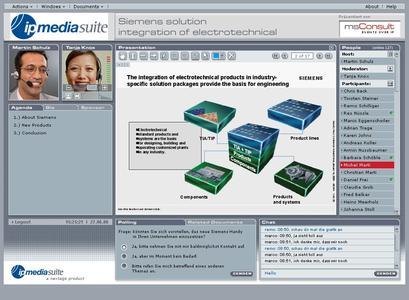 Webkonferenz Plattform Oberfläche