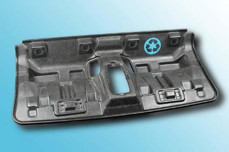 Back seat shell of the BMW i3 made from carbon fibre recycling material