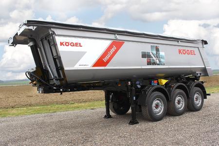 Kögel three-axle asphalt tipper trailer with 24 m³ load volume
