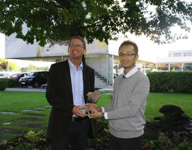 Amos Brennecke, Sales Director, VIDEOR E. Hartig GmbH; Calvin Wong, Director of Sales and Marketing, OT Systems