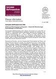 [PDF] Pressemitteilung: European BioPerspectives 2008