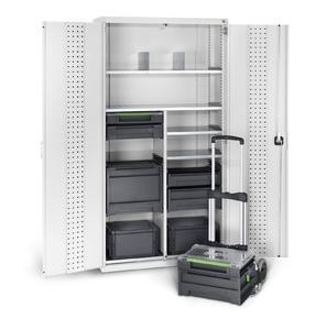cubio Systemschrank mit varioSafe und varioSort Koffern von bott
