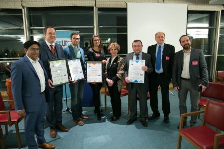 Gewinner des ersten EU Drone Awards in Brüssel, Belgien