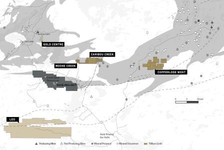 Abbildung 1Grundbesitz von Trillium Gold Mines in Red Lake,einschließlich der neuen und ausstehenden Akquisitionen, die sich in Confederation Assemblage-Gestein befinden
