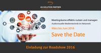 """Einladung zur Roadshow 2016: """"AV-Medientechnik im Netzwerk"""""""