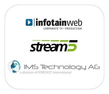 Erfolgreich mit Online-Videos: IMS Technology, stream5 und infotainweb präsentieren sich gemeinsam auf der dmexco