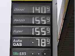 Die Inflation macht sich beim Tanken bemerkbar, Details auf www.inflationsrate.com