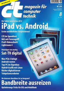Das Titelbild der aktuellen c't-Ausgabe 8/2012