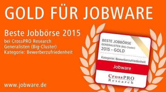 Gold für Jobware im CrossPRO-Jahresbericht 2015