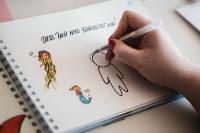 Jeder Teilnehmer wird direkt in den kreativen Prozess eingebunden und kann selbst in das Buch schreiben und zeichnen.