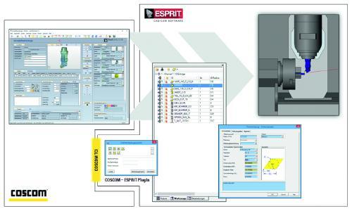 """Die COSCOM TCI Datenplattform """"connects"""" ESPRIT CAD/CAM in den COSCOM Werkzeugdatenprozess - bis hin zur Rüstvorbereitung im operativen Shopfloor-Umfeld"""