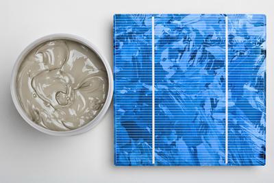Heraeus entwickelt silberhaltige Pasten zur Herstellung sehr feiner, hochleitfähiger Kontaktbahnen auf den Solarzellen