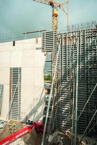 The consistent panel pattern looks good with end-on and side-on NOEtop wall formwork panels.