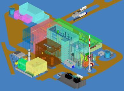 3D Modell der Anlage Olsztyn