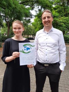 1. Platz für Chiara Haas, Gymnasium bei St. Anna in Augsburg