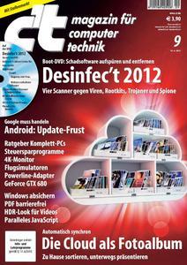Das Titelbild der aktuellen c't-Ausgabe 9/2012