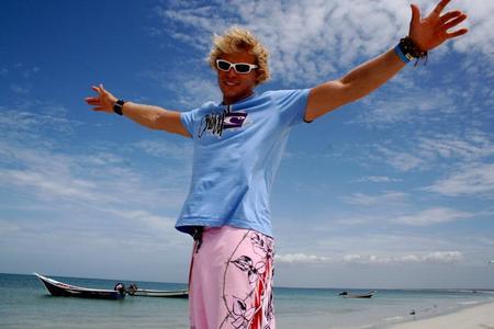 "Julian Hosp: ""Dank Skype kann ich meinen Traum leben - das Kitesurfen."""