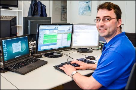 Holger Hetke: Serviceleiter bei Armbruster Engineering.