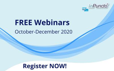Free Webinars for Document Management & Process Optimization in SAP: October – December 2020