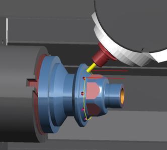 Maschinen- und Abtragssimulation: Ein schneller Kollisionscheck ist jederzeit während der Programmierung möglich. Bildquelle: OPEN MIND