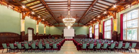 Der historische Festsaal des Herrenkrug Parkhotels in Magdeburg wird am 25./26. Oktober 2016 zum Zentrum der KWK-Branche (Bild: Herrenkrug Parkhotel)
