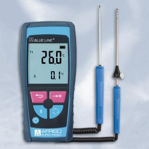The AFRISO TMD7 handheld electronic thermometer is EN 50379-2-certified and measures temperatures from -50 °C to +1,100 °C. The instrument is also approved for official measurements