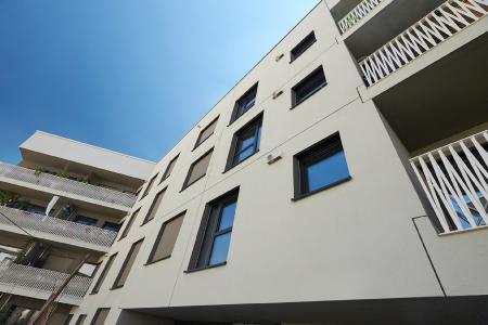 """Das mit GENEO Fenstern ausgestattete Wohnprojekt """"wagnisART"""" im Münchener DomagkPark hat den begehrten DAM Preis 2018 des Deutschen Architekturmuseums gewonnen / Bildrechte: """"SYDOW - Der Fotograf"""""""