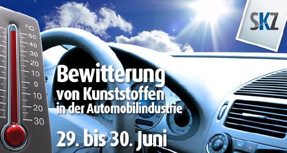 Bewitterung von Kunststoffen in der Automobilindustrie