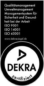 Siegel ISO-Zertifizierung ISO 9001, ISO 14001 und ISO 45001