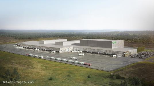 Coop Automation Terminal – SSI Schäfer erhielt von Coop den Zuschlag für die Realisierung einer der größten Automatisierungslösungen weltweit ©Coop Sverige AB 2020