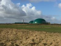 Biogasanlage in Eggebek, Schleswig-Holstein
