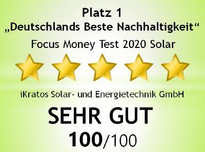"""iKratos """"Deutschlands Beste Nachhaltigkeit"""" mit 100 von 100 Punkten"""