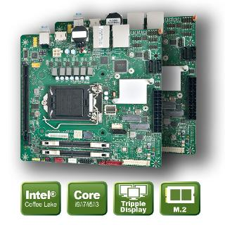 Mini ITX Board for Intel® CoreTM processors of the 9th and 8th generation