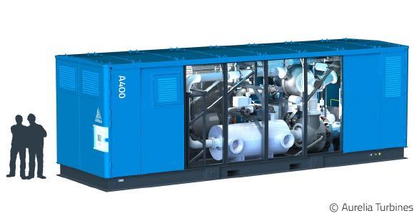 Eine neue 400 kW Mikrogasturbine könnte neue Anwendungsfelder für die Kraft-Wärme-Kopplung erschließen (Bild: Aurelia Turbines Oy)