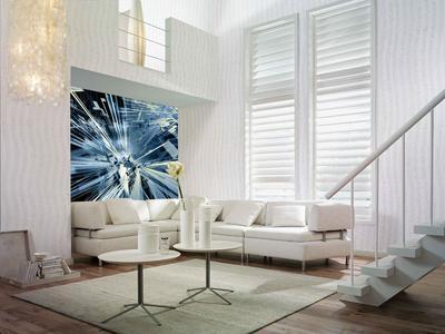 BU: Digital bedruckte Erfurt wallpaper CA von Neschen für die individuelle Innenraumgestaltung (Digital Interior Design). Die vielfach preisgekrönte Tapete ist umweltschonend und frei von PVC und Weichmachern.