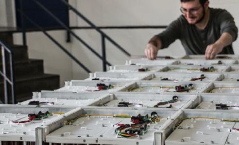 Aufbau des Gesamtsystems am Fraunhofer LBF
