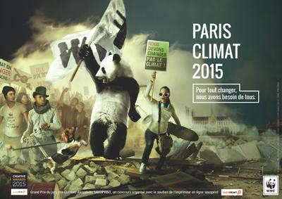 "Creative Awards by SAXOPRINT:  ""Panda Revolution"" zum Global Climate March in Berlin"