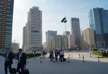 Besucher aus den Vereinigten Arabischen Emiraten und den Anrainerstaaten informierten sich auf der SteelFab im Emirat Sharjah / Quelle: DVS/Messe Essen
