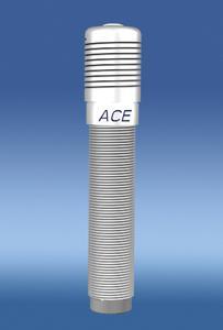 Neue Schutzkappe PF25: Ab Werk auf das Außengewinde des Stoßdämpfers geschraubt und mit Kleber zusätzlich verbunden, dichtet dieses Zubehörteil den Dämpfer und dessen Dichtungssystem, bestehend aus der bewährten ACE Rollmembrane, hermetisch von der Außenumgebung ab
