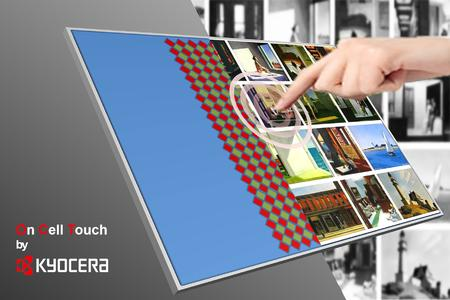 On-cell LCD modules with integrated PCAP touch screen from Kyocera
