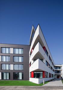 Die neue Avira Firmenzentrale in Tettnang – der Grundriss lehnt sich an die Form des Schirms im Avira Logo an
