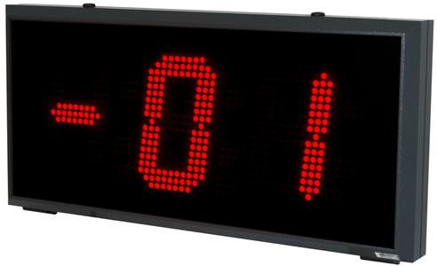 Ziffernhöhe: 200 mm; Leuchtfarbe: rot; Anwendungsbereich: Außenanwendung