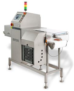 Das Produkt-Inspektionssystem RAYCON ist ein vergleichsweise kompakter und leichter Rönt-genscanner für die Endkontrolle von verpackten Produkten.
