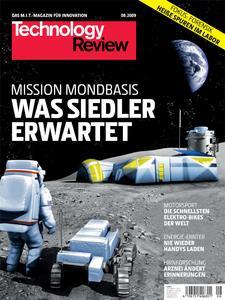 Das Titelbild der aktuellen Technology Review-Ausgabe 8/2009