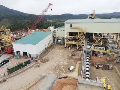 Während der Errichtung der Fruta del Norte-Mine; Foto: Lundin Gold
