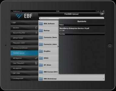 EBF.Connector 6.5 - Speichern bearbeiteter Firmendokumente